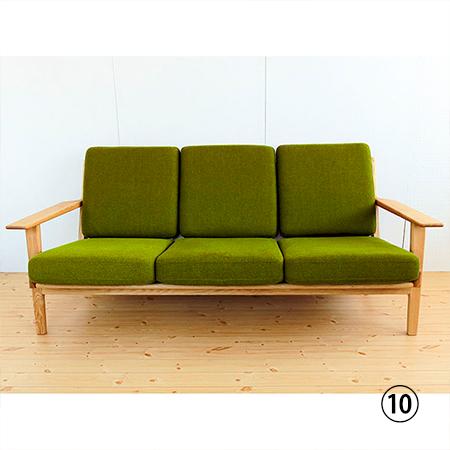 デザインソファ三人掛け